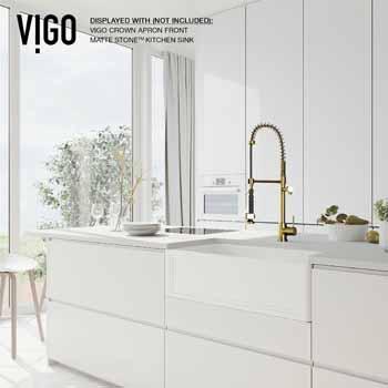 Vigo Matte Gold Faucet Lifestyle 3
