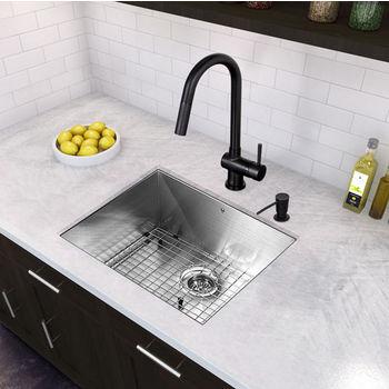 Matte Black Pull-Out Kitchen Faucet