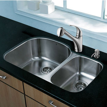 Stainless Steel Straight Pull-Out Spray Kitchen Faucet
