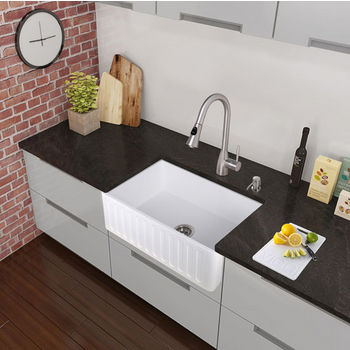 Stainless Steel Curved Pull-Out Spray Kitchen Faucet