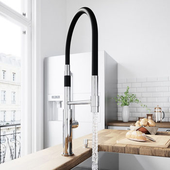 Chrome Faucet with Soap Dispenser - Illustration