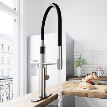 Stainless Steel Faucet with Deck Plate - Illustration
