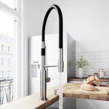Stainless Steel Faucet with Soap Dispenser - Illustration