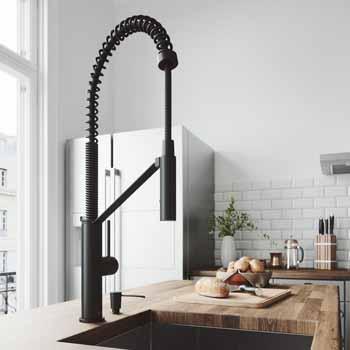 Vigo Matte Black with Soap Dispenser Lifestyle View