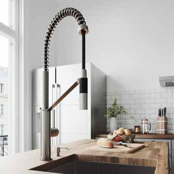 Vigo Stainless Steel with Soap Dispenser Lifestyle View