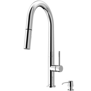 Chrome Faucet with Soap Dispenser - Product View