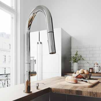 Vigo Chrome with Soap Dispenser Lifestyle View