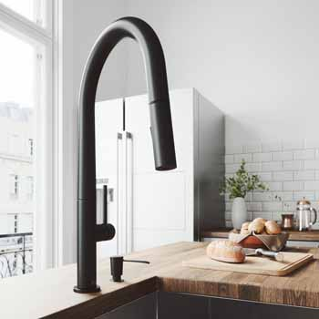 Vigo Matte Black with Soap Dispenser Lifestyle View