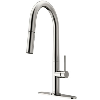 Stainless Steel Faucet with Deck Plate - Product View