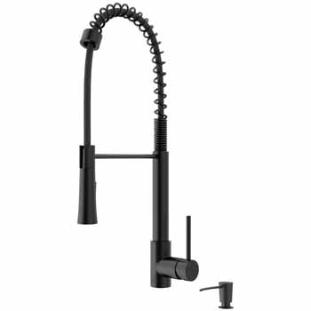 Vigo Matte Black with Soap Dispenser Display View
