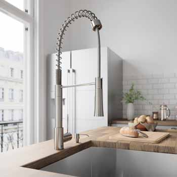 Vigo Stainless Steel Faucet Lifestyle View
