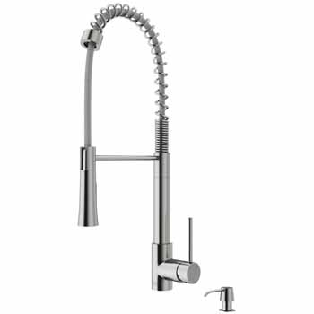 Vigo Stainless Steel with Soap Dispenser Product Dimensions