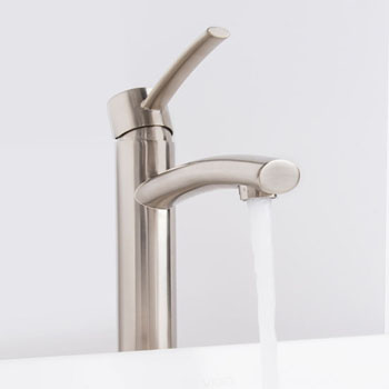 """Vigo Milo Vessel Bathroom Faucet in PVD Brushed Nickel, Faucet Height: 12-1/2"""", Spout Height: 9-1/2"""", Spout Reach: 5"""""""
