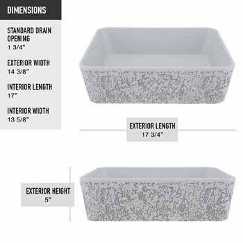 Vigo Zinnia Sink Product Dimensions