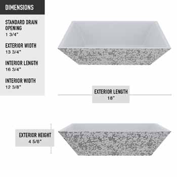Vigo Calendula Sink Product Dimensions