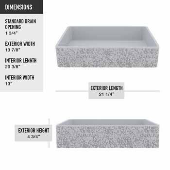 Vigo Dahlia Sink Product Dimensions