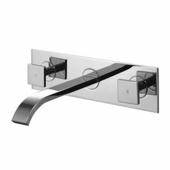 vigo titus dual handle wall mount chrome faucet