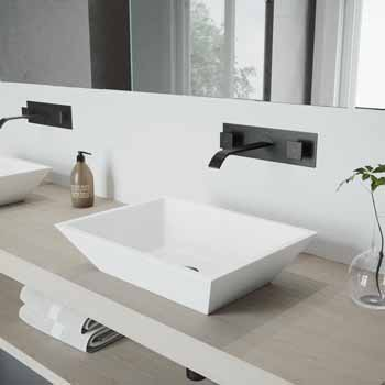 Vigo Mate Black Faucet Lifestyle View