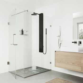 Vigo Matte Black Shower Panel Lifestyle View