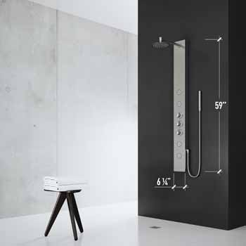 Vigo Stainless Steel Shower Panel Product Dimensions
