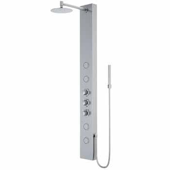 Vigo Stainless Steel Shower Panel Display View