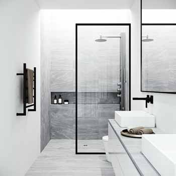 Vigo Stainless Steel Shower Panel Lifestyle View