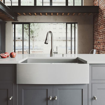 Kitchen Sink Sets Kitchen sink and faucet sets stainless steel and glass vessel vigo camden collection 33w farmhouse stainless steel kitchen sink 16h faucet and dispenser workwithnaturefo