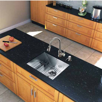 Vigo All In One 23-Inch Undermount Stainless Steel Kitchen Sink And Chrome Faucet Set