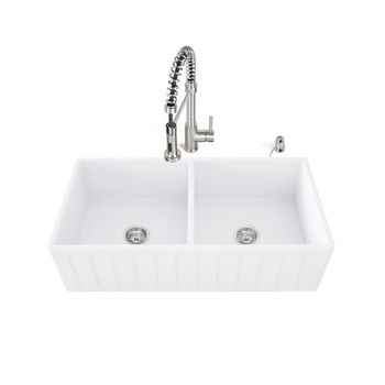 SS Sink Set, White Background