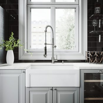VG15484 Sink Set w/ Zurich Faucet Stainless Steel