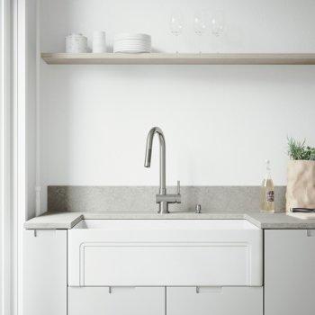 VG15492 Sink Set w/ Gramercy Faucet Matte Black