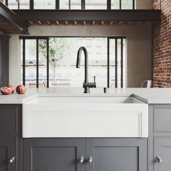 VG15508 Sink Set w/ Gramercy Faucet Matte Black