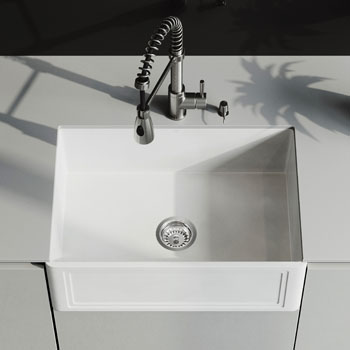 Sink and Brant Pull-Down Faucet Close-up