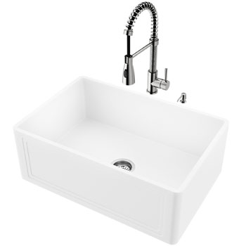 Sink and Brant Pull-Down Faucet Display View