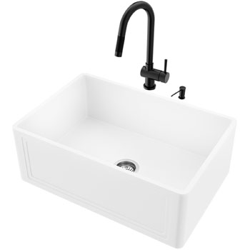 Sink and Gramercy Pull-Down Faucet Display View