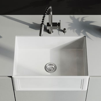 Sink and Lincroft Pull-Down Faucet Close-up