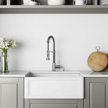 Sink and Edison Pull-Down Faucet Lifestyle 1