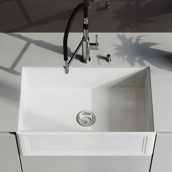 Sink and Norwood Magnetic Faucet Closeup