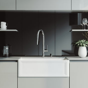 Sink and Greenwich Pull-Down Kitchen Faucet Lifestyle 1