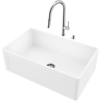 Sink and Greenwich Pull-Down Kitchen Faucet Display View