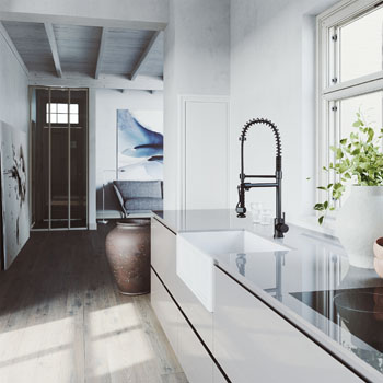 Sink and Zurich Pull-Down Kitchen Faucet Lifestyle 1