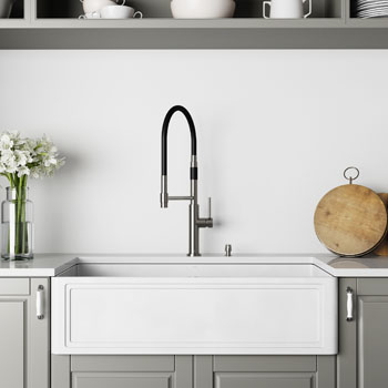 36'' Sink and Norwood Magnetic Spray Kitchen Faucet Lifestyle 2