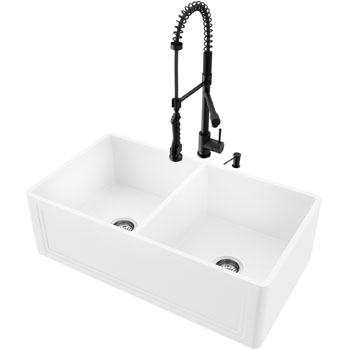 33'' Sink with Zurich Faucet Display View 1
