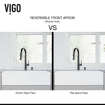 Sink Reversible Front