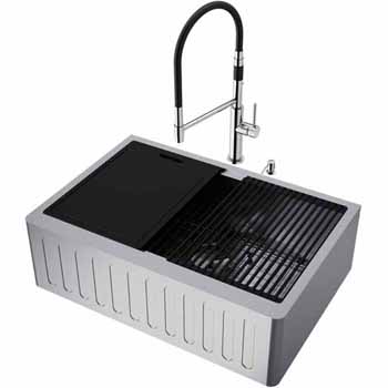30'' Sink w/ Norwood Faucet in Stainless Steel