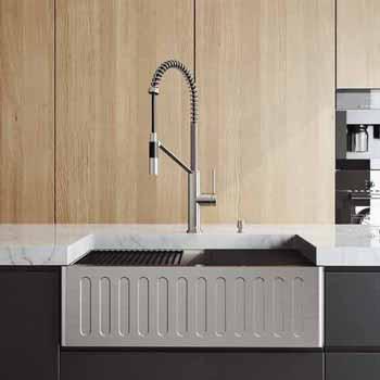 30'' Sink w/ Livingston Faucet in Stainless Steel