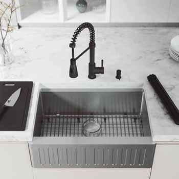 30'' Sink w/ Brant Faucet in Matte Black
