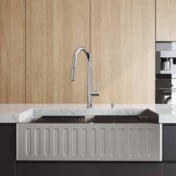 36'' Sink w/ Greenwich Faucet in Chrome