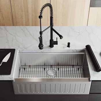36'' Sink w/ Zurich Faucet in Matte Black