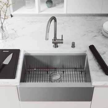 30'' Sink w/ Gramercy Faucet in Stainless Steel